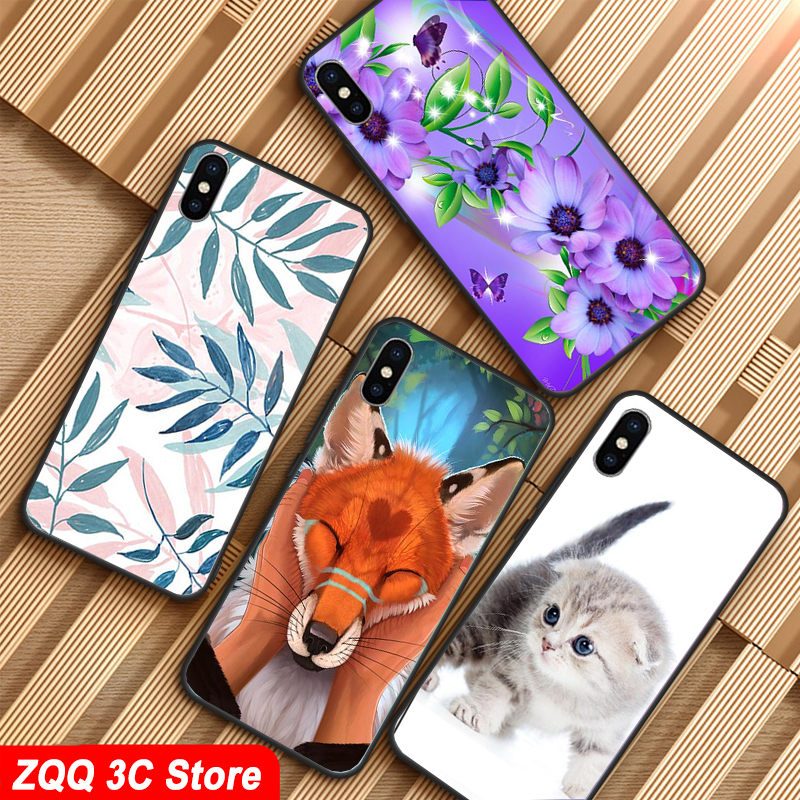 For meizu note 8 Note8 Case, Silicon Cartoon Painting Soft TPU Back Cover for meizu m8 note Phone protect Bags shell