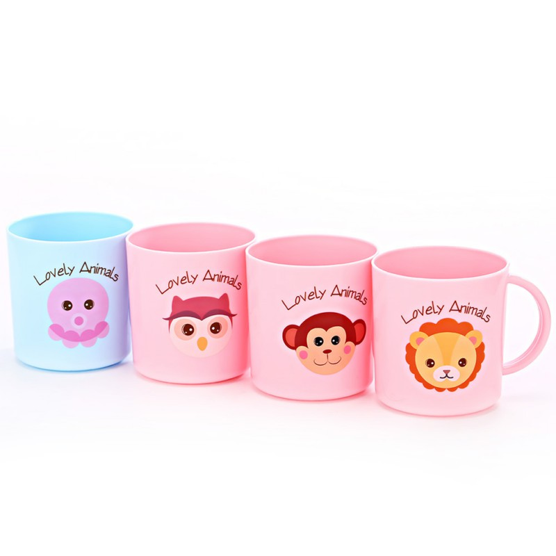 200ml Baby Cartoon Tooth Brush Cups Wash Cups Water Cups For Children Kids Learn Drink Feeding Bottles Random Delivery