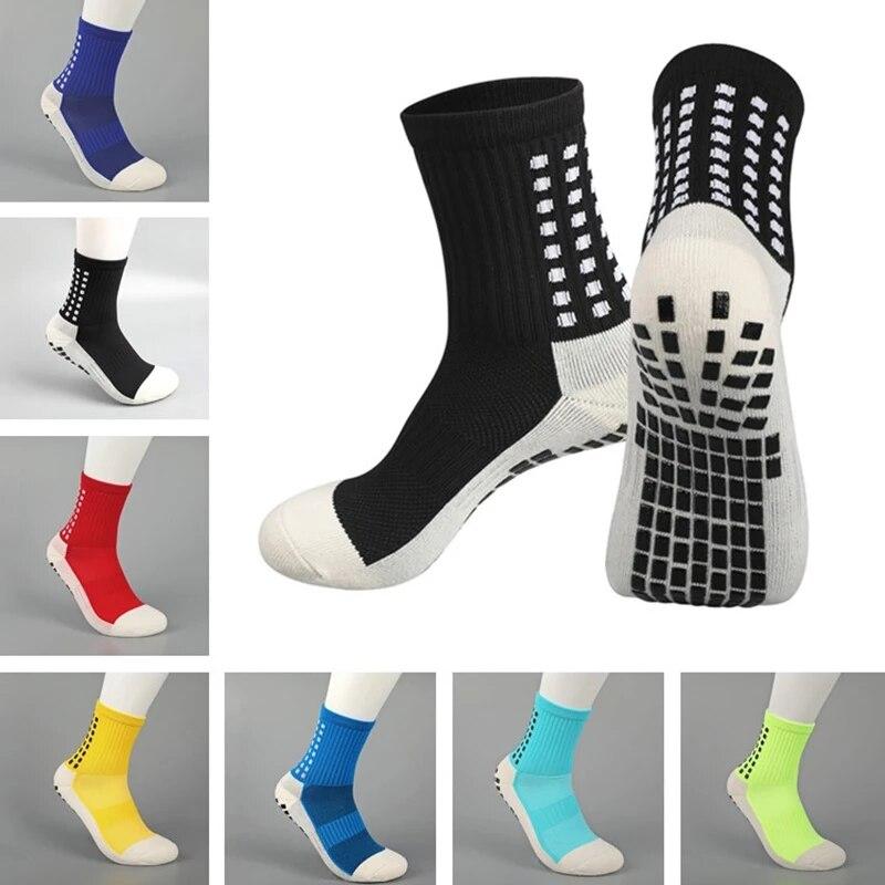 Мужские и женские нескользящие футбольные носки, тренировочные носки, новый стиль, спортивные носки, высокое качество, хлопок, такой же, как ...