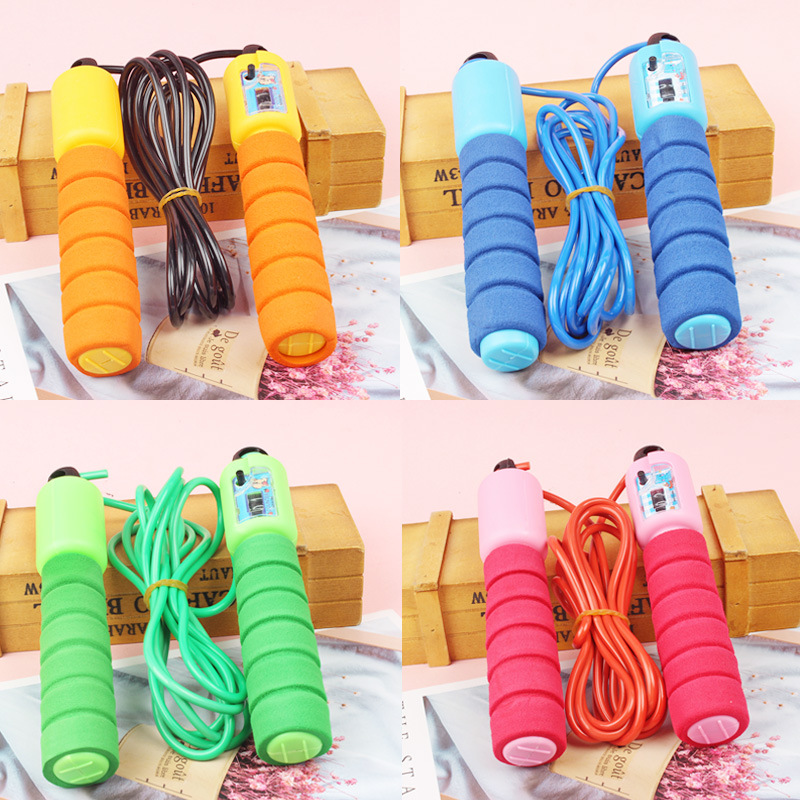 New Style Cotton Binder Sponge Handle Count Jump Rope Students The Academic Test For The Junior High School Students Sports Supp