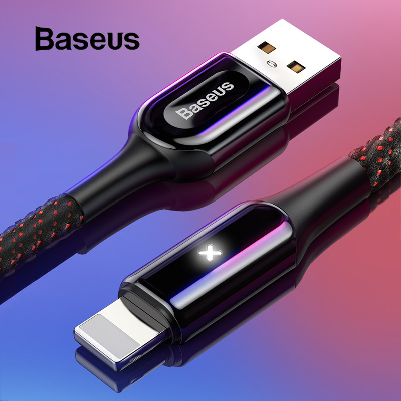Baseus 2.4A Lighting USB Cable for iPhone XR X 7 8 Fast Charge X Lighting Cable for iPad iPhone 6 6 Plus USB Cable Charging Cord-in Mobile Phone Cables from Cellphones & Telecommunications on AliExpress