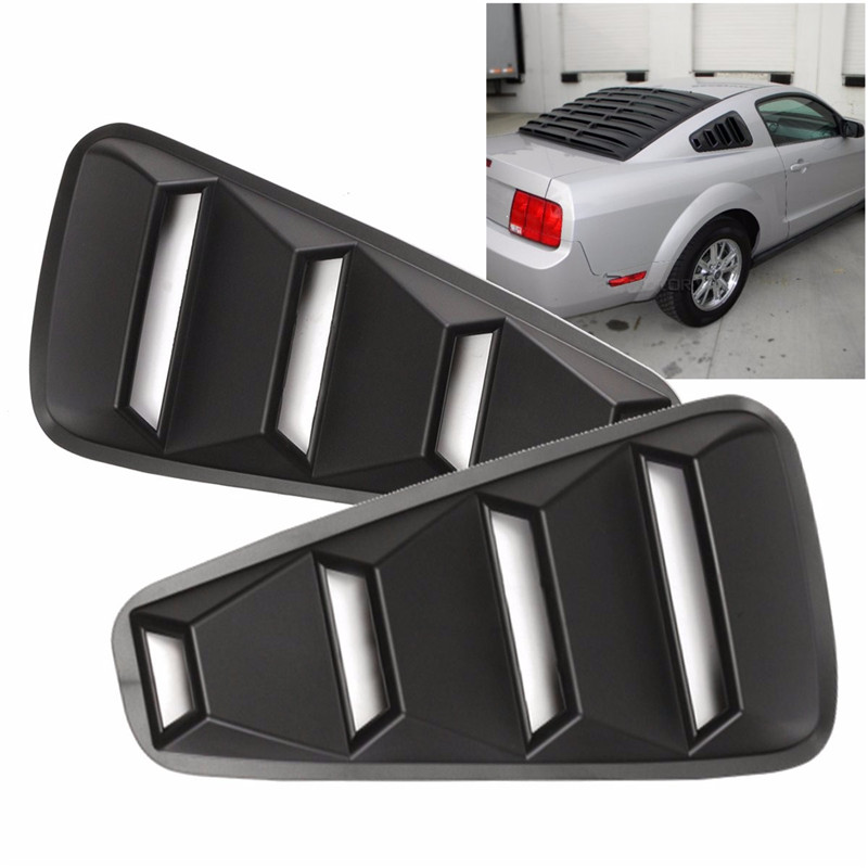 Valves /& Parts ABS Front Hood Scoop Vent Black for Ford//Mustang GT V8 2005 2006 2007 2008 2009