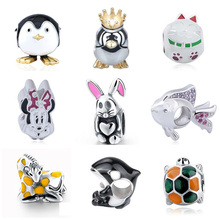 NEW arrival cute animal Beads Fit Original Pandora Charms Bracelet 2017 100% 925 Sterling Silver Beads For Jewelry Making gifts цена