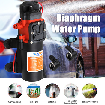 Micro Electric Diaphragm Water Pump High Pressure Self Priming Car Washing Spray Water Pump 40PSI 3.8L/Min 12V Automatic Switch image