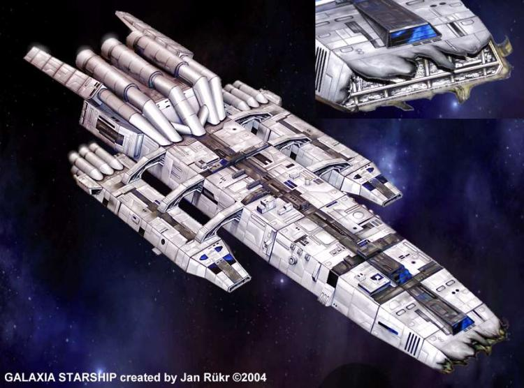 Battlestar-Galactica (mothership) 3D Paper Model Diy