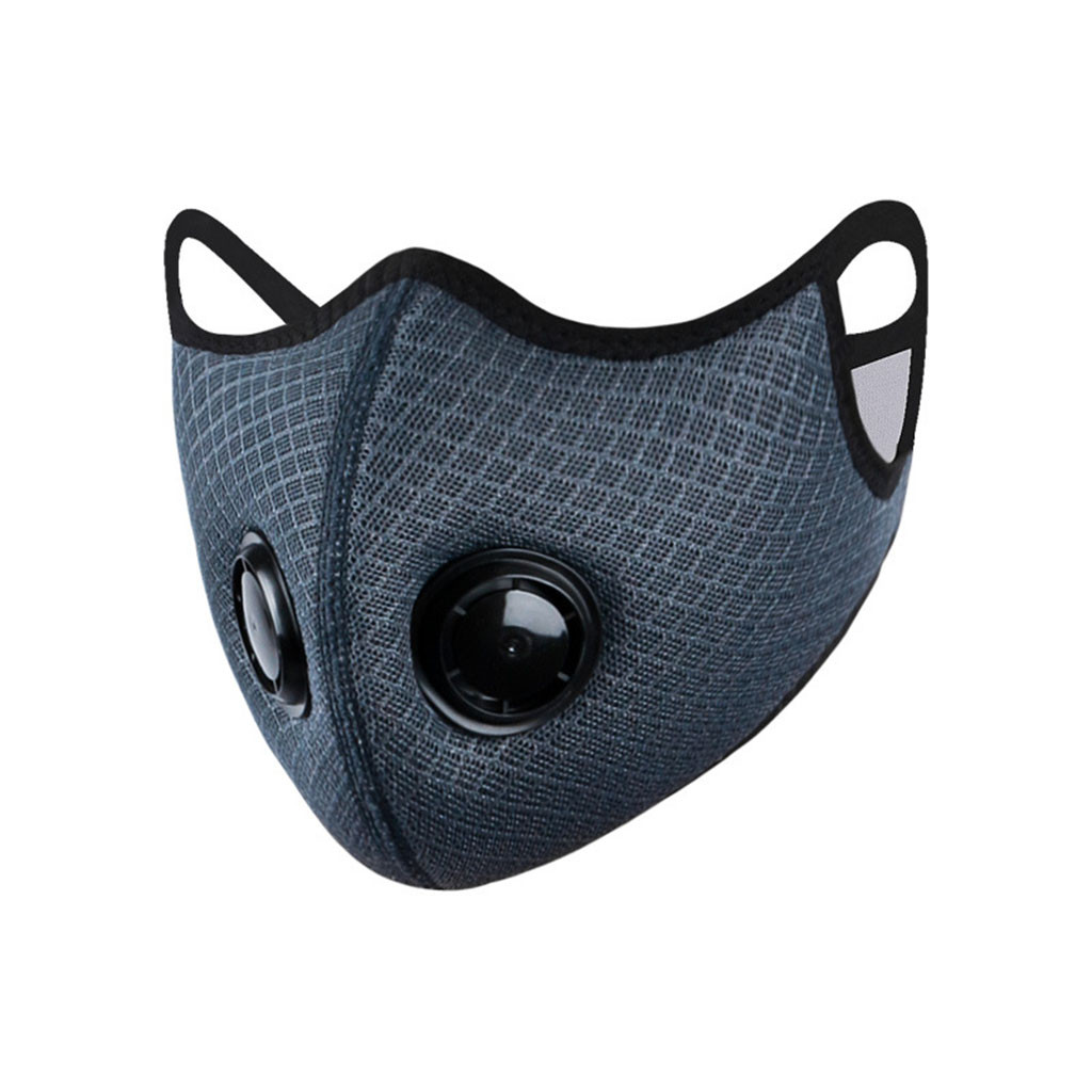 Sport Black Grey Face Mask Breathing Valve Protective Cycling Mask Dustproof MTB Road Bike Training Facemask Innrech Market.com