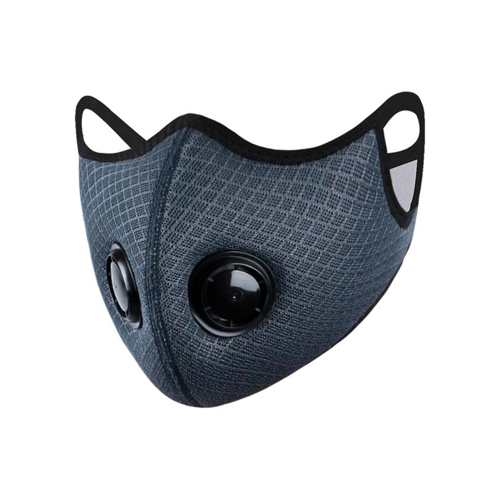 Sport Black Grey Face Mask Breathing Valve Protective Cycling Mask Dustproof MTB Road Bike Training Facemask Innrech Market.com
