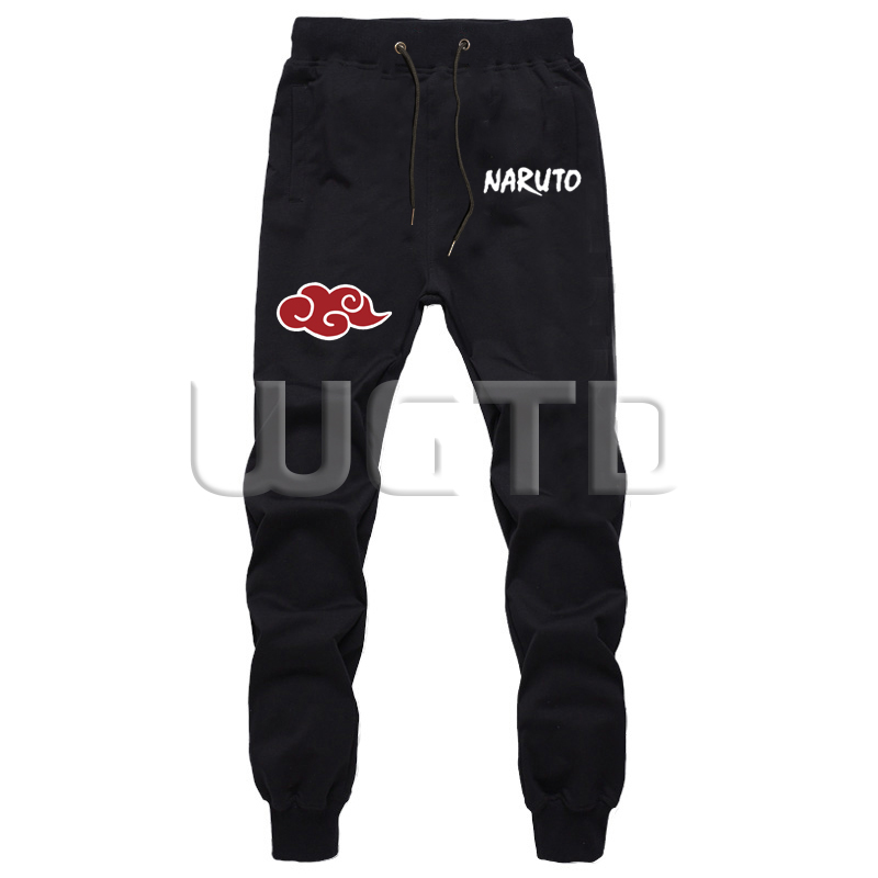 Fashion Anime Naruto Cosplay Trousers Spring Autumn Cotton Unisex Long Pants Casual Sports Trousers