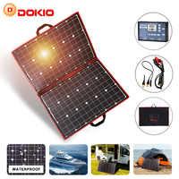 Dokio marca 110w (55Wx2 Uds Flexible Foldble Mono Panel Solar 100W para viajes y barco RV portátil de alta calidad de Panel Solar de China
