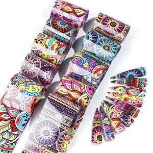Image 3 - 10pcs Colorful Nail Foil Set Adhesive Decals Wraps Stickers Nail Art Transfer Foils Decorations Manicure Sliders TRXKH40 53 55