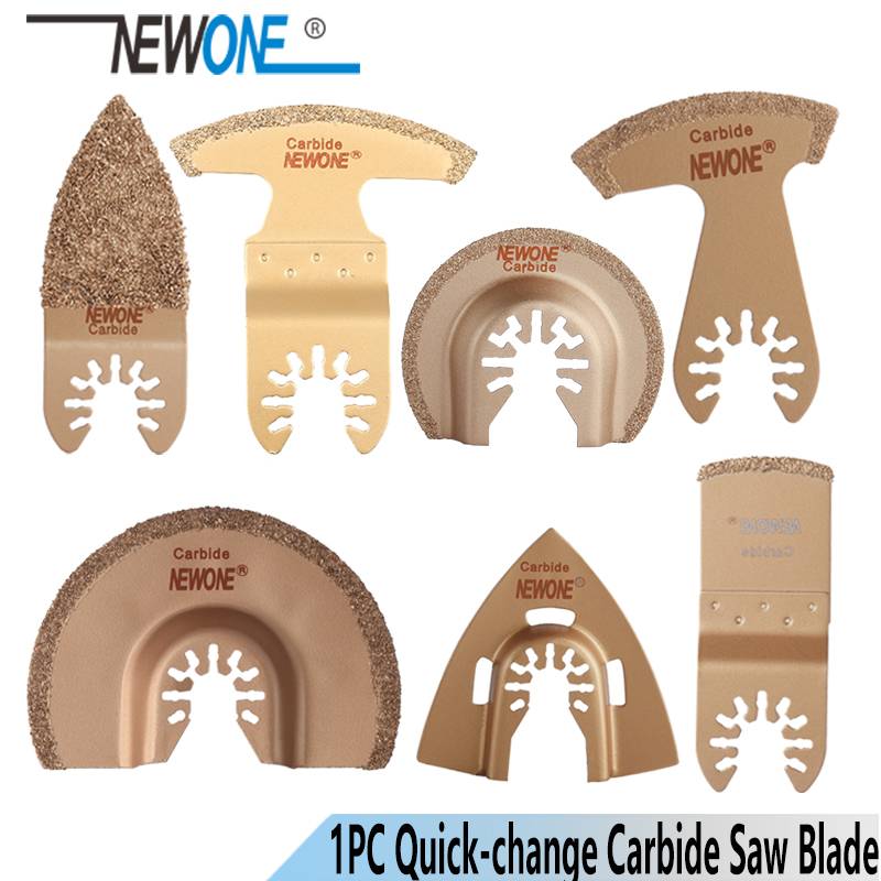 NEWONE 1pc Quck-release Carbide Oscillating Tool Saw Blades Multi-tool Power Renovator Trimmer Saw Blades For Tail Bath