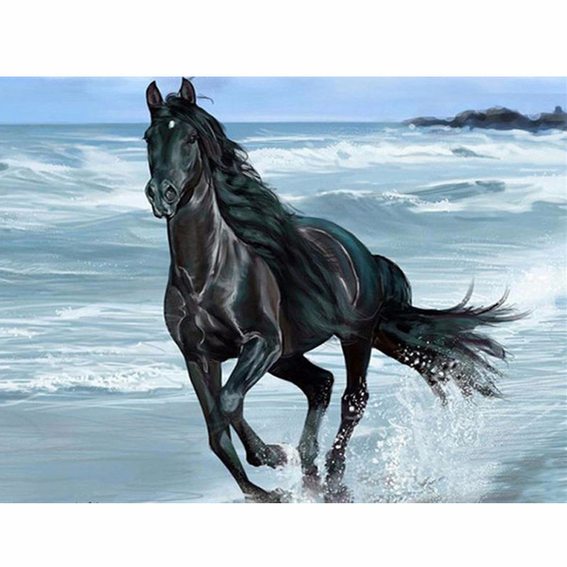 Animal Horse Picture DIY Painting By Numbers Adult Gift Coloring By Number Draw On Canvas Acrylic Oil Paintings Home Decoration