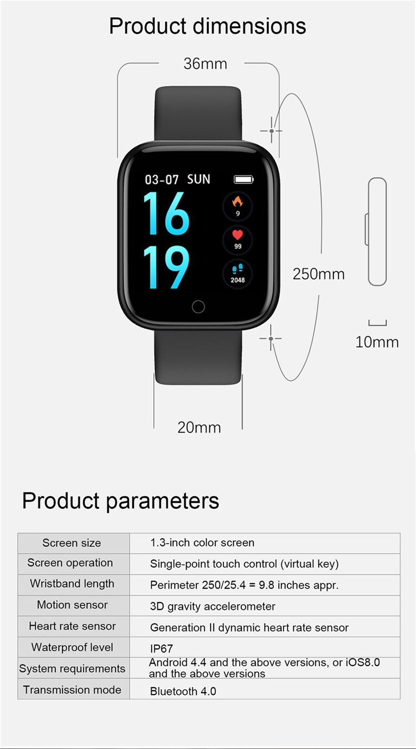 smart watch apple watch xiaomi huawei iwo 8 (14)