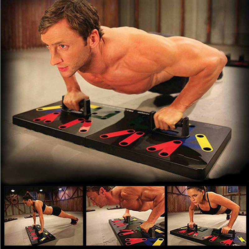 H14376fb7077345c39042a8958aac7b65k - 9 In 1 Push Up Rack Board Men Women Comprehensive Fitness Exercise Push-up Stands Body Building Training System Gym Equipment