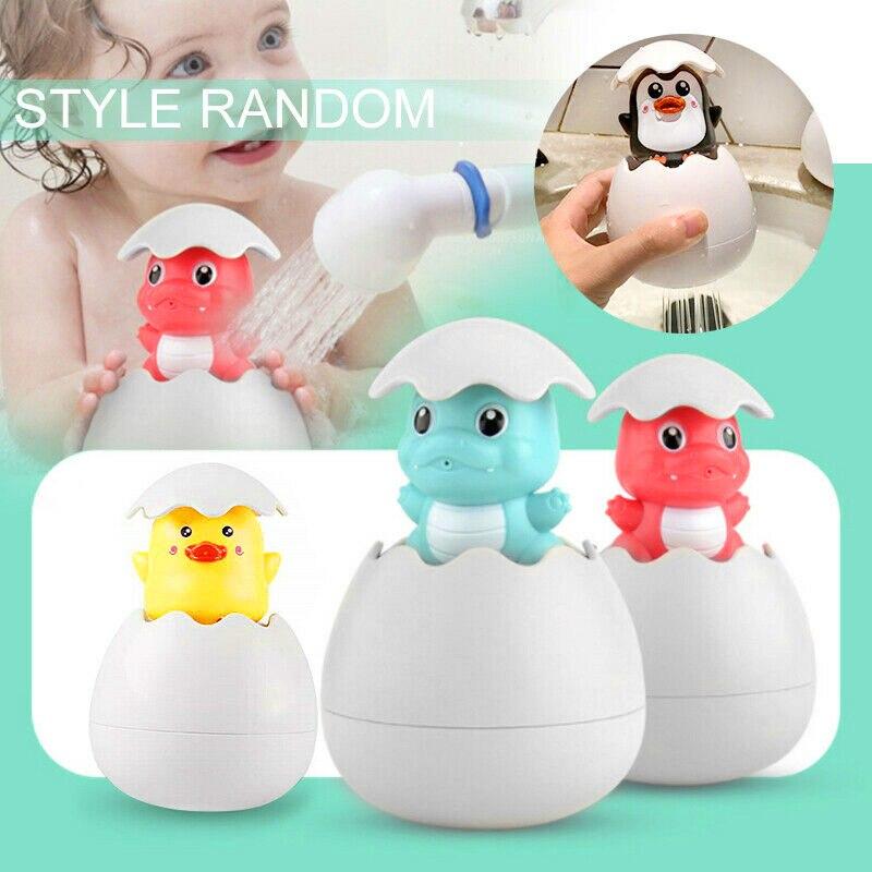 Kids Baby Bathing Swimming Toy Dinosaur/Duck/Penguin Egg Water Spray Sprinkler Gifts SAL99