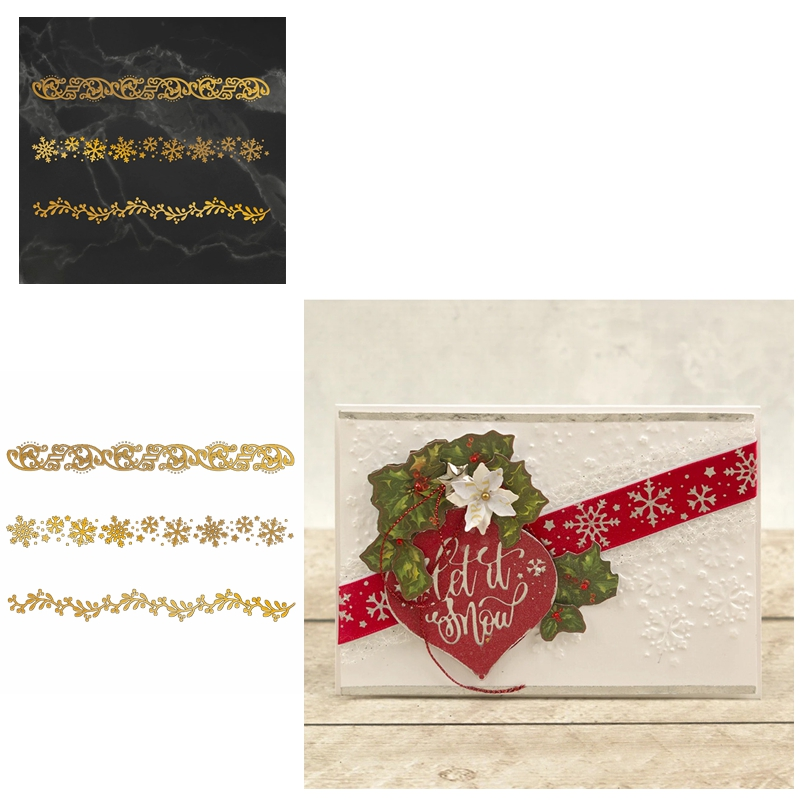 Christmas Ornament Hot Foil Plate Metal Dies For Cards Decor Making Scrapbooking