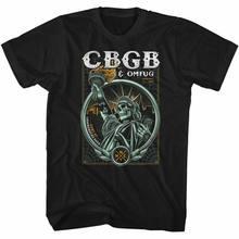 Camiseta negra para adultos, prenda de vestir, CBGB Established 73