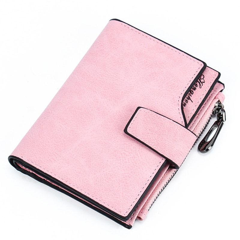 2019 Wallet Women Leather Short Purse Card Holder Women Wallets Money Bag Round Zipper Coin Pocket Ladies Wallet Clutch W062