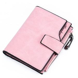 2020 Leather Wallet Women Short Purse Card Holder Women Wallets Money Bag Round Zipper Coin Pocket Ladies Purse Clutch W062(China)