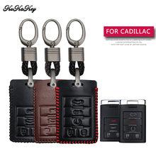 Étui à clés de voiture en cuir, coque de Protection, pour Cadillac DTS, stes, Escalade, cs, SRX, XTS, ATS, C7