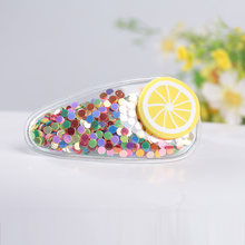 JINJIAN Color quicksand transparent children's fruit hairpin little girl PVC side clip baby bb clip girls(China)