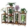 Airs balcon intérieur bois massif vert Luo étagère à fleurs un salon charnu pot de fleurs Style chinois à moulu cadre en bois Son