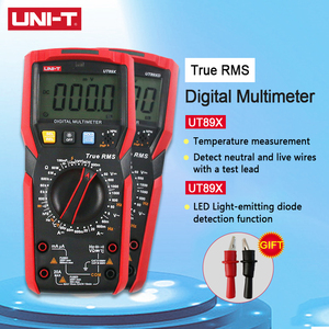 UNI-T UNIT UT89X UT89XD Mini Handheld Digital Multimeter AC DC Voltmeter Capacitance Resistance Tester True RMS NCV 20A Current