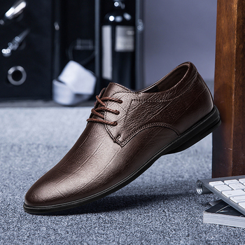 Genuine Leather Oxford Mens Shoes High Quality Formal Dress Derby Shoes Classic Business Office Wedding Footwear Handmade Brown luxury brand designer genuine leather mens wholecut oxford shoes for men black brown dress shoes business office formal shoes