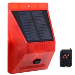 Image 5 - Солнечный звуковой сигнал Лампа вспышка Предупреждение светильник оповещения движения PIR Сенсор строба сирены охранной сигнализации Системы для фермы дома во дворе на открытом воздухе