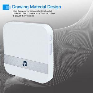 Wireless Wifi Smart Video Doorbell 433MHz Chime Music Receiver Home Security Indoor Intercom Door Bell Receiver 10-110dB Sounds