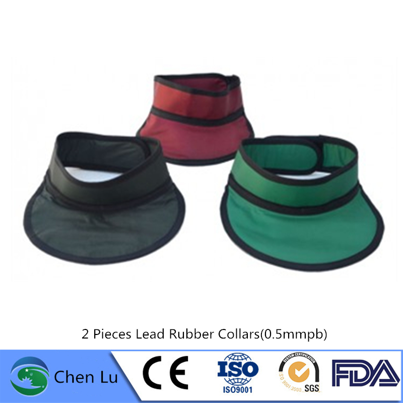 Wholesale 2 Pieces Radiological Protection Thyroid Collar Radiology, Stomatology X-ray Protective 0.35mmpb Lead Rubber Collar