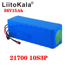 LiitoKala 36V 15Ah bateria 21700 5000mah 10S3P akumulator 500W bateria o dużej mocy 42V 15000mAh Ebike rower elektryczny BMS