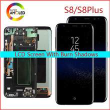 Original LCD For Samsung Galaxy S8 Lcd Display S8 plus G950 G950F G955fd G955F G955 With Burn Shadow With Touch Screen Digitize(China)