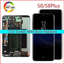 Oryginalny Lcd do Samsunga Galaxy S8 wyświetlacz Lcd S8 plus G950 G950F G955fd G955F G955 z spalić cień z ekranem dotykowym digitalizacją tanie tanio Pojemnościowy ekran Odnowiony AMOLED for SAMSUNG Galaxy S8 S8 Plus LCD i ekran dotykowy Digitizer 2560x1440 3 6 Months