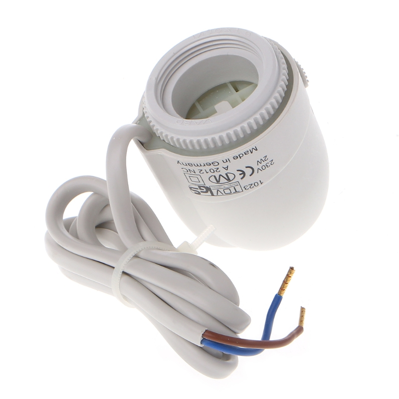 230V 2W Normally Open Close Thermal Electric Actuator For Underfloor Heating Manifold