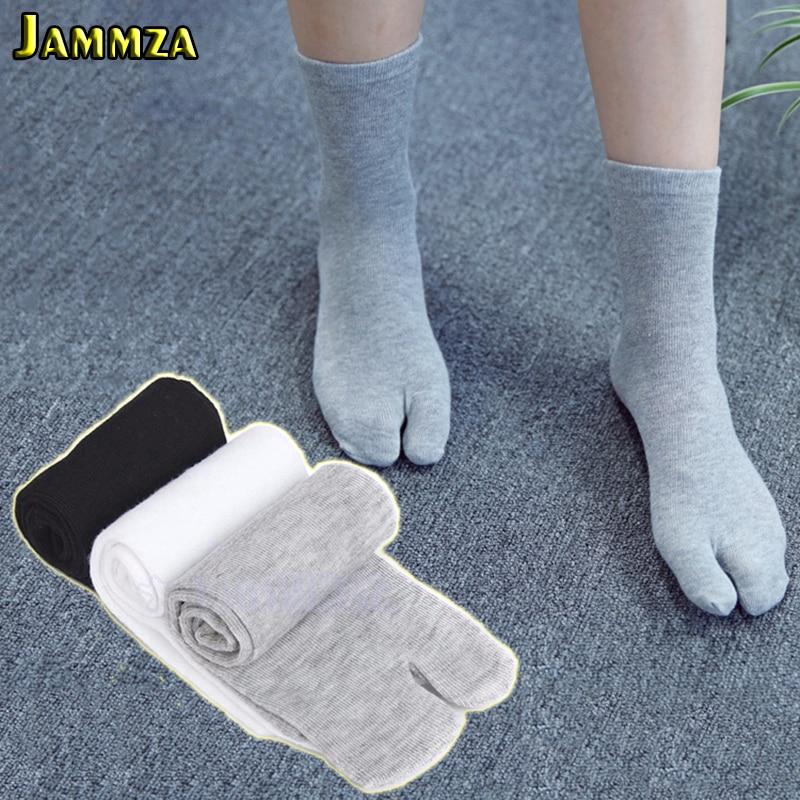 3Pairs/Lot Japanese Tabi Toe Socks Men Women Bamboo Fiber Deodorant Breathable Socks With Separate Toes Kimono Flip Flop Socks