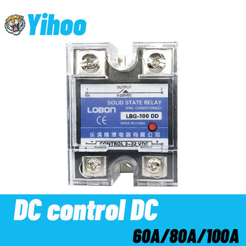 цена на Lobon 60A 80A 100A DD SSR Single Phase DC Control DC Heat Sink 3-32VDC To 5-220VDC SSR-100DD 60DD 80DD Solid State Relay