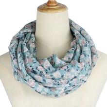 women Infinity Scarf ring scarves Fashion flower loop Scarves Snood Shawl neckerchief infinity scarf new fashion women scarves plaid печать кольцо шарфы кольцо украдено 2018 jeouly