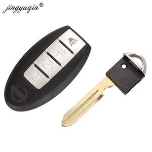 Смарт-карта jingyuqin 2 3 4 кнопочный чехол для пульта дистанционного управления для Nissan Sunny ALTIMA MAXIMA Murano Versa Teana Sentra Rogue