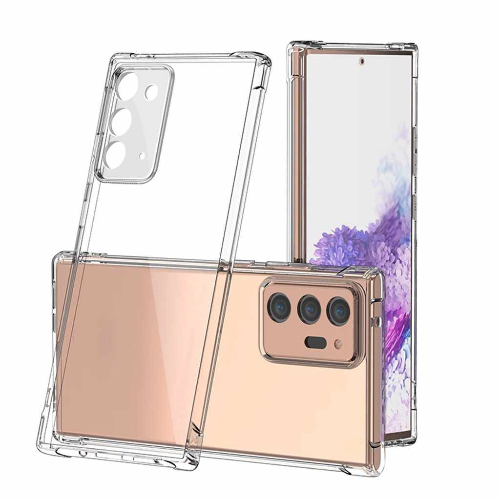 Untuk Samsung Galaxy Catatan 20 Ultra 5G Case Bening Shockproof Fleksibel TPU Cover