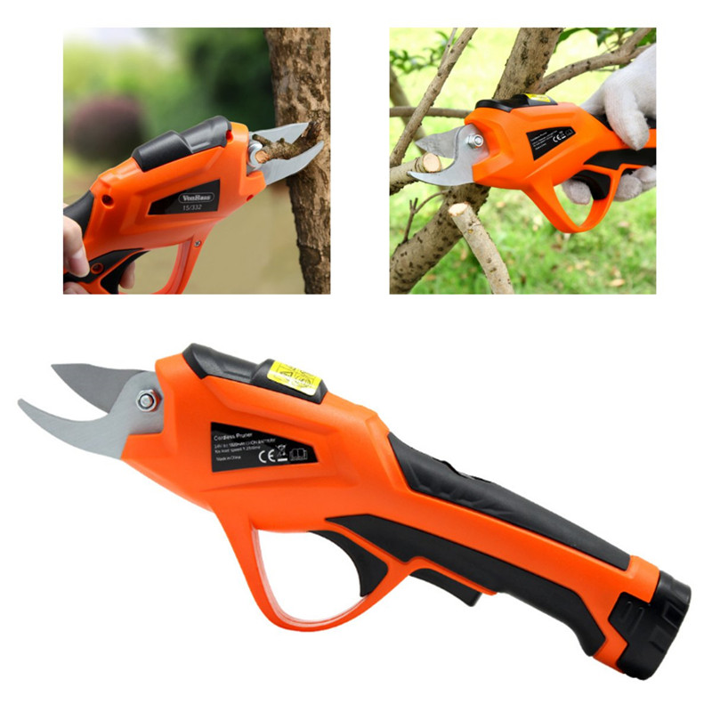 Cordless Electric Garden Pruning Shears for Orchard Branches and Stems of Flower Plants with 3.6V Battery
