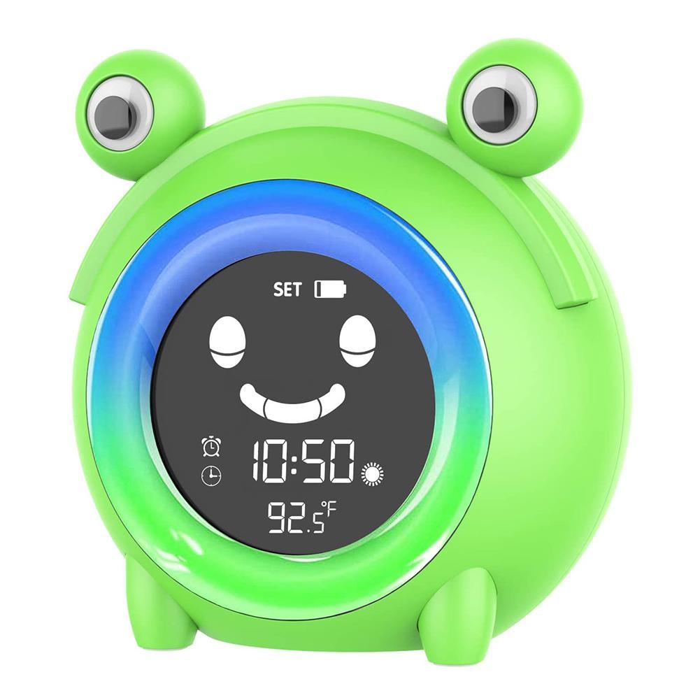 Alarm-Clock Night-Light Temperature-Display Training Digital Kids Children Cute Frog
