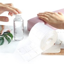 500pc/rollNail Cotton Wipes UV Gel Nail Tips Polish Remover Cleaner Lint Paper Pad Soak Nail Art Cleaning Manicure Tool
