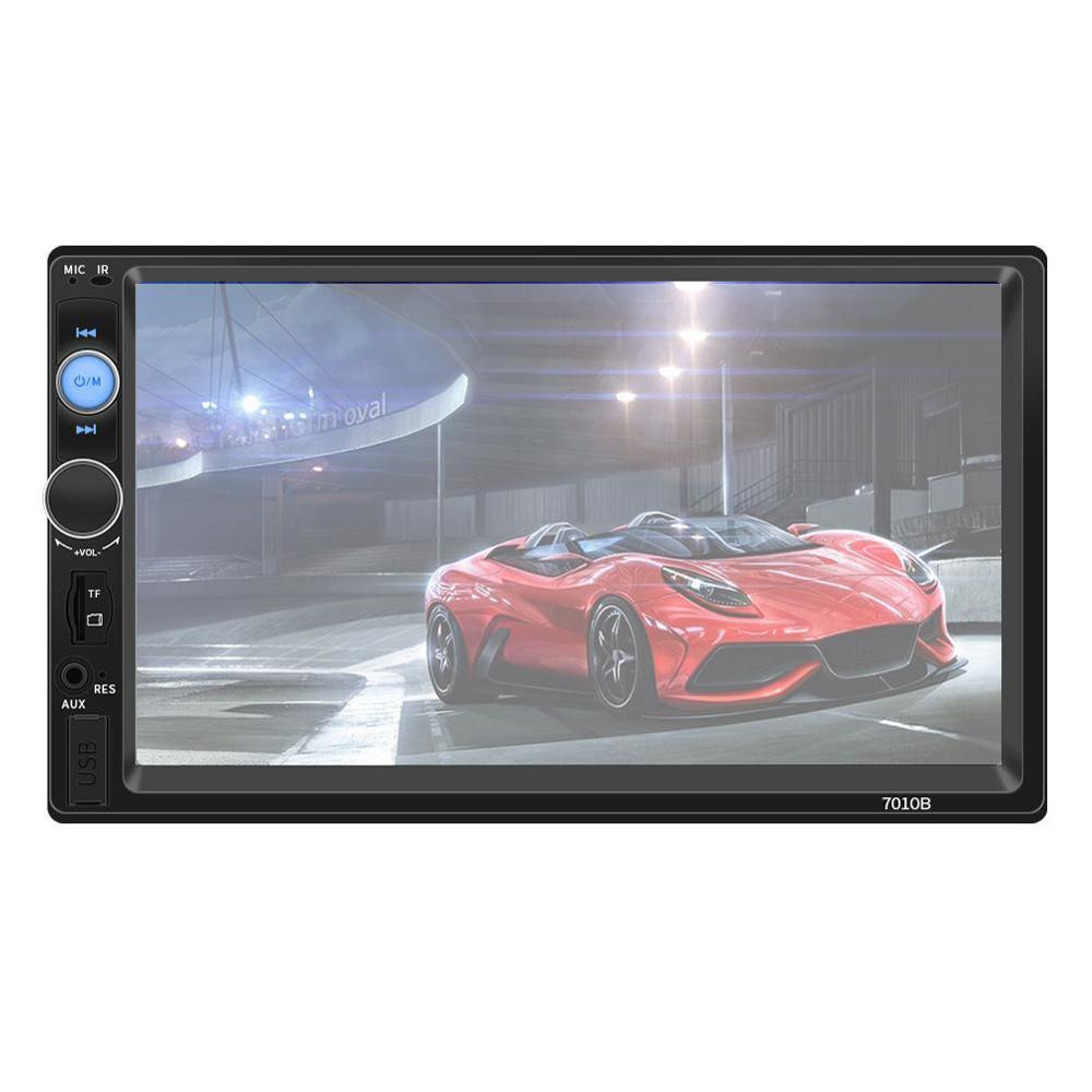 Top <font><b>7010B</b></font> 2 din Car Multimedia Audio Player Stereo Radio 7 inch Screen HD MP3 MP4 Player Support Bluetooth Camera FM image