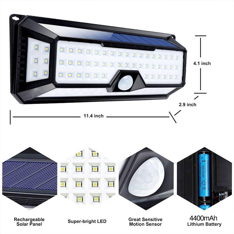 ar livre lâmpada solar sensor de movimento