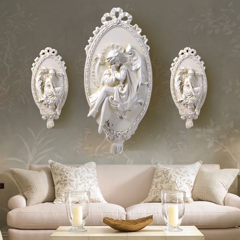 Modern Home Decor Figurine Angel Statue Big Size Wall Decoration Accessories Sculpture 51x25x3cm Ornament Wedding Decorations