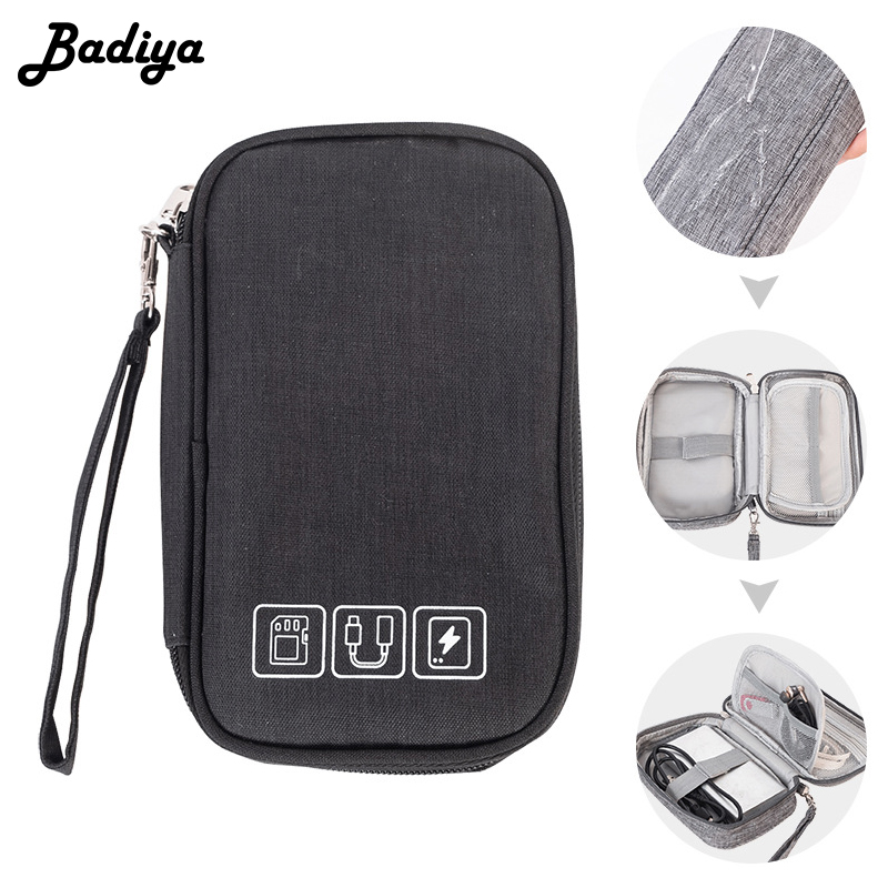 Cable Organizer Bag Electronic Gadget Organizer Cable Headset Case Travel Accessories Portable Charger Pouch Digital Storage Bag