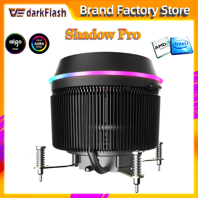 Aigo darkflash CPU Cooler AURA di SINCRONIZZAZIONE 3p-5V TDP 280W PWM 4pin LED RGB Ventola Del Radiatore controllo di Raffreddamento per intel AM2/AM3/AM4/2011/LGA