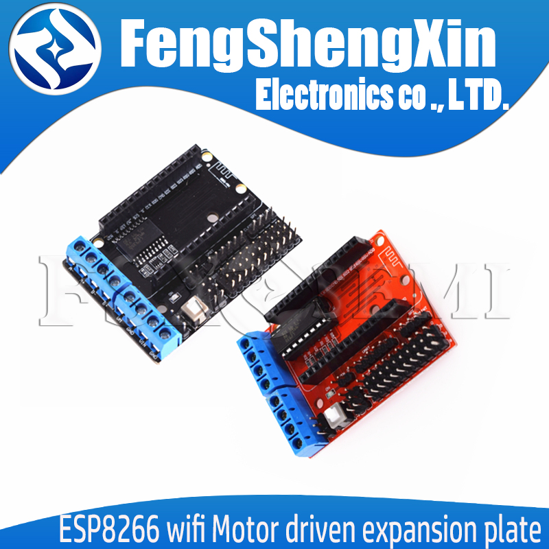<font><b>ESP8266</b></font> Module WiFi Motor Drive <font><b>expansion</b></font> <font><b>board</b></font> L293D 12E ESP12ELua Internet of things smart car image