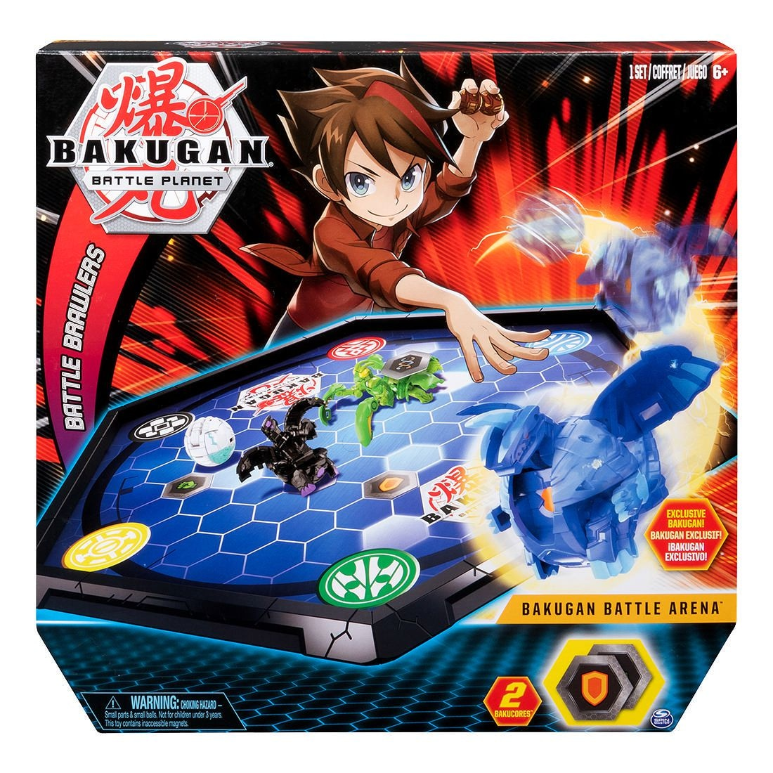 Bakugan Battle Arena Game Board Exclusive Bakugan BakuCores Ability Card Kid Toys
